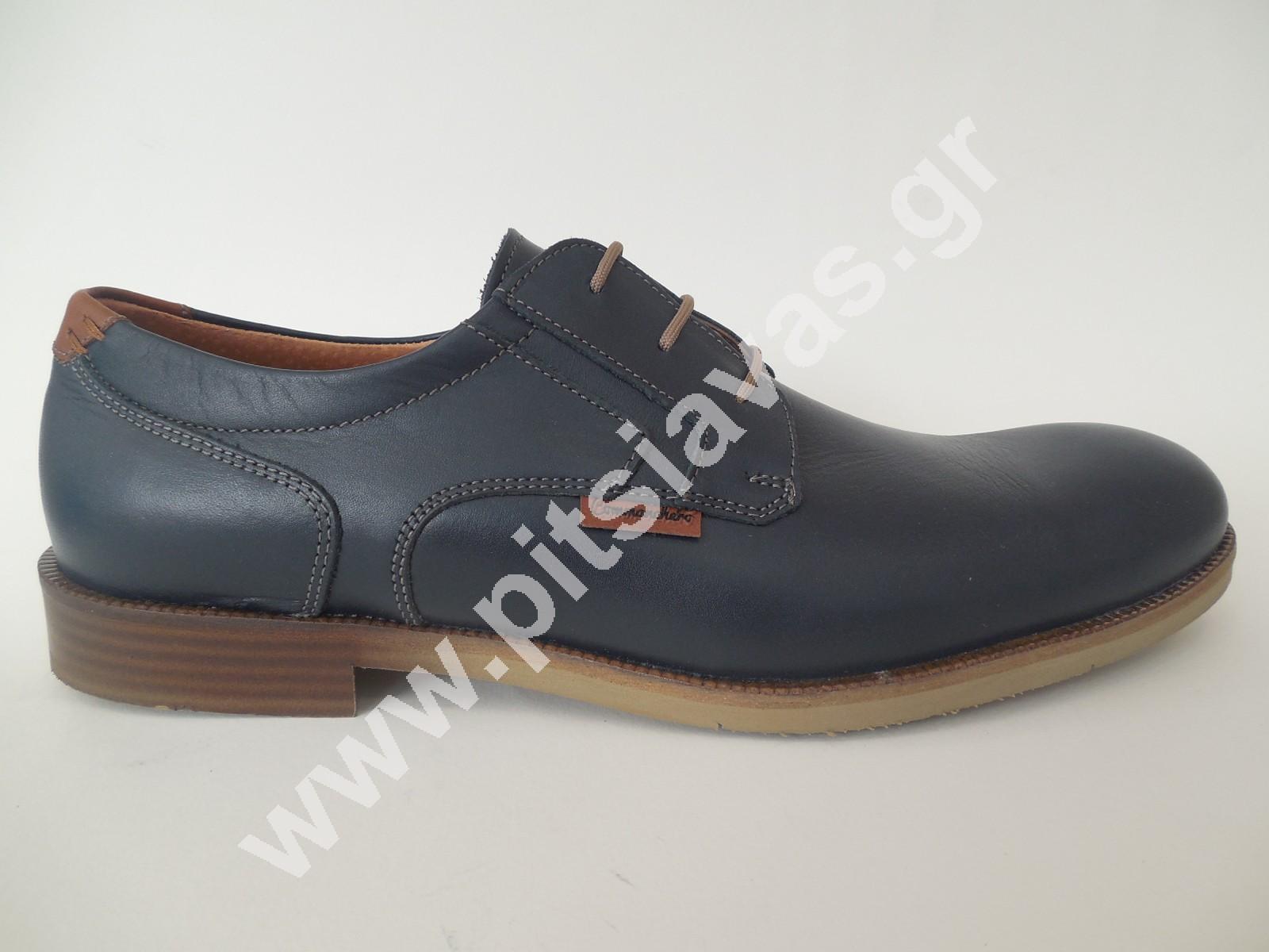 7abadd20f17 Commanchero ανδρικό παπούτσι 91693 μπλε δέρμα - pitsiavas